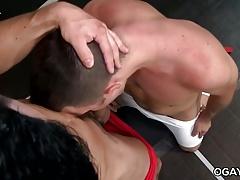 Wrestling gays Andrew and Derek