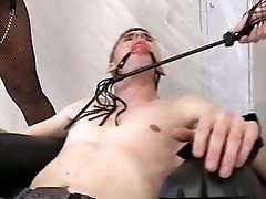 Submissive slave is ordered two fuck his mistresses BDSM porn