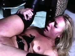 Squirting submissive skank being punished