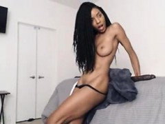 EBONY TEEN BABE SHOWS OFF WITH HUGE DILDO-Part2 On Our Site
