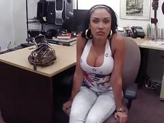 Latina with big tits gives head and fuck