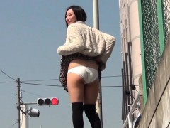 Asian cuties show panties