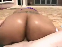 Supple sexy brunette rides fat hard swollen cock