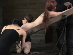 Petplay sub gets her tummy scratched