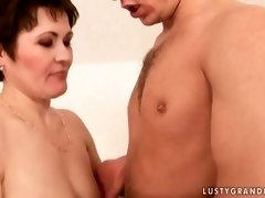granny enjoys hot sex with her young lover film