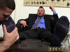 Blowjob leg bar gay The adoring begins with a foot massage t