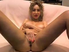 Hot Blonde Gets Naked And Masturbates