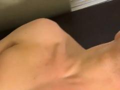 Horny men jerking First he gets the messenger to suck his pr