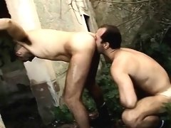 Daddy gets his dick and some sexy piss fun from one of his