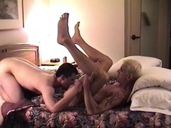 Sexy butt munchers have one steamy fuck session in bed