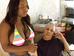 Chick is giving man a immoral cock sucking
