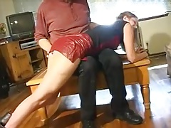 Spanked by Step-dad
