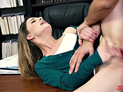nasty bookworm bitch kristen scott gets fucked by her dean