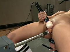 shane dos santos gets stretched by machine cock