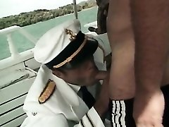 Sailors on a boat have hot anal sex