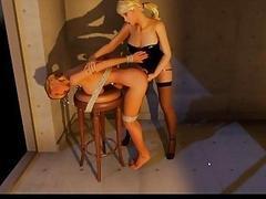 bondage in animation shows rough tgirl fucking
