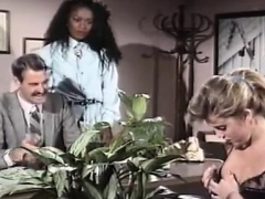 Mauvais DeNoir, Megan Leigh, Mike Horner in interracial sex