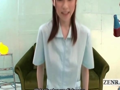 Subtitled CFNM POV Japanese nurse erection inspection