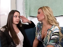 mom and teen girl lesbian sex with Claudia Valentine and Rilee Marks