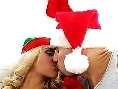 Big cock fucks a slutty babe for Christmas