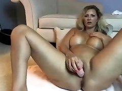 Big Titty Milf Sucking Cock On Webcam