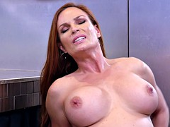 redhead mom diamond foxxx rides her stepson's fat dick