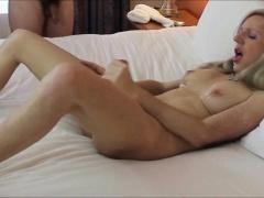 Mature tranny loves having cum on herself