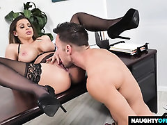 Brooklyn is privately having warm fuck-a-thon with Johnny in her office, while no one is seeing them