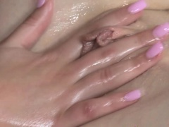 Lesbian couple fingering at their wam massage