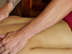 filmed babe jizzed by masseur