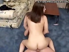 Faith Leon sucking a big fat cock then getting ass fucked and facialed