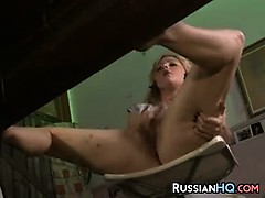 Russian Chick Caught Masturbating