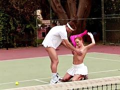 audrey likes tennis balls