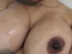 Busty Amateur Jennifer Woods Shower Masturbation