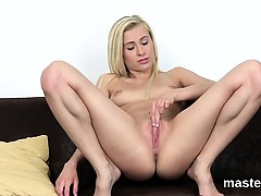 Horny czech girl stretches her narrow crack to the special