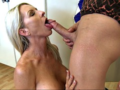 hot milf emma starr pulls out his dick and shoves it in her mouth