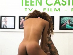 Curly ebony Kendall Woods fucked hard