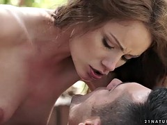 Outdoor anal with gorgeous pornstar Sophie Lynx