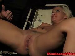 Bondage fest with blonde bimbo being destroyed by master BDSM