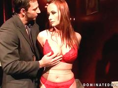 Redheaded MILF gets bondaged and punished