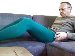 green pantyhose