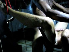 Two studs have an awesome interracial sex party