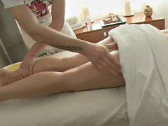 massaging beauty's smooth ass