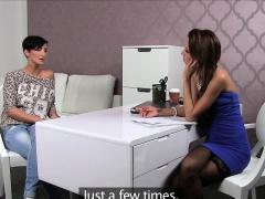 Casted lesbian pussysucking until orgasm