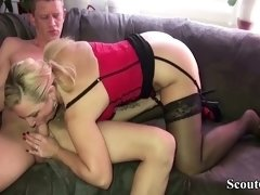 GERMAN MILF HELP NEIGHBOR with Fuck to get happy