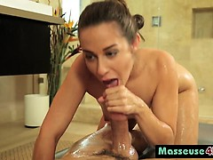 Masseuse Cassidy Klein Sucking Sideways Fat Cock
