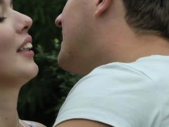 Amateur Denise tresspassing fuck with bf