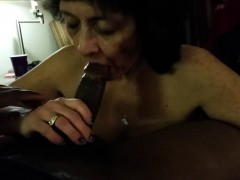 Granny Loves Sucking Black Dick