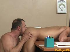 Mature sport teacher bangs student till cum