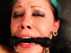 Bound submissive fisted